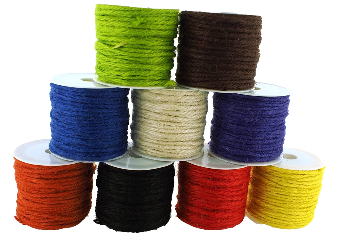 Trimweaver 2mm Jute Twine, 90-Yard, Variety Pack