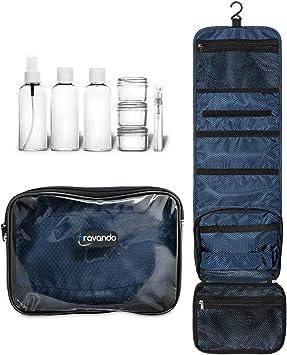 2610f4e98 TRAVANDO neceser hombre bolsa de aseo para colgar neceser de viaje  transparente compartimentos , , equipaje