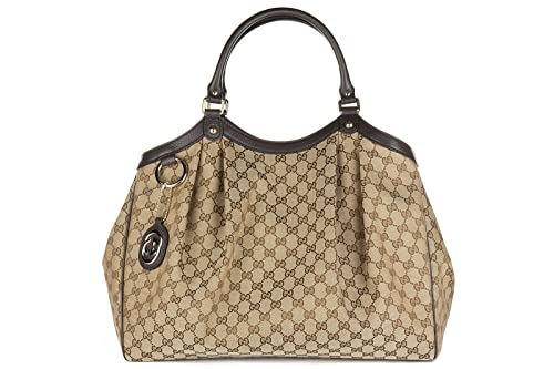 923a3e4b24 Gucci borsa donna a spalla shopping nuova originale marrone: Amazon.it:  Scarpe e borse