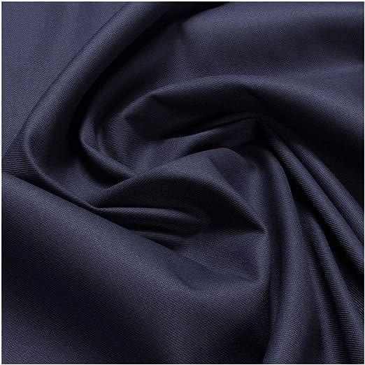 Tela Algodón Poliéster Tejido mixto Azul Oscuro EOL de sarga (Licra Marino extensible: Amazon.es: Hogar