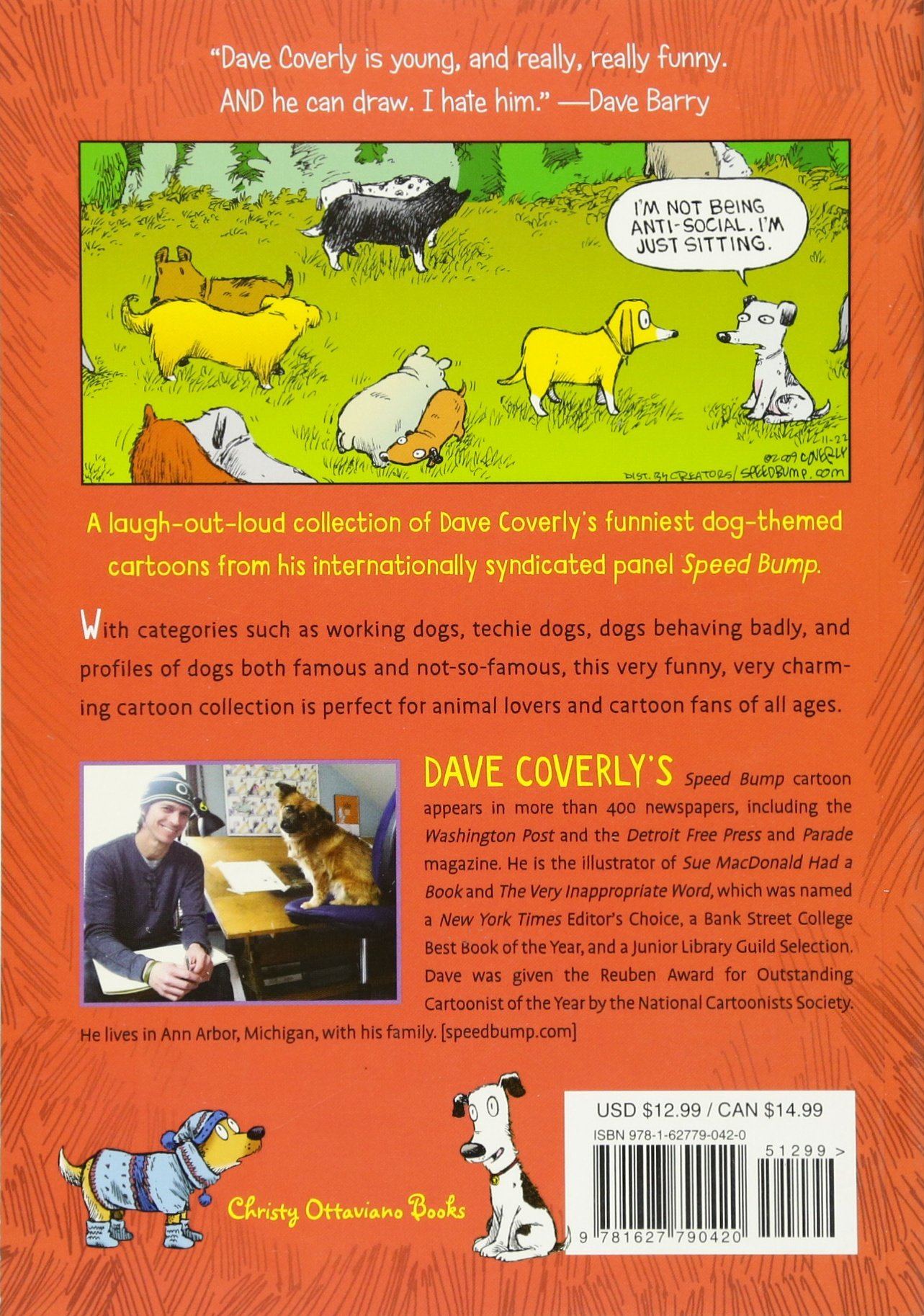This picture of cartoon cows there s a dog hiding can you find it - Dogs Are People Too A Collection Of Cartoons To Make Your Tail Wag Dave Coverly 9781627790420 Amazon Com Books