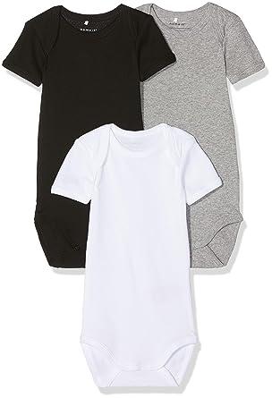 09f3524f6fa2c Name It Grenouillère Mixte bébé (Lot de 3)  Amazon.fr  Vêtements et  accessoires