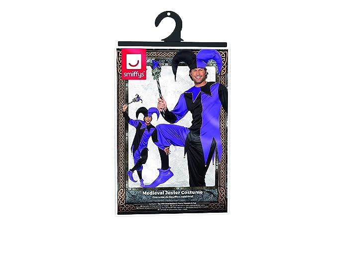 Amazon.com: Smiffy s – Disfraz de bufón medieval hombre, M ...