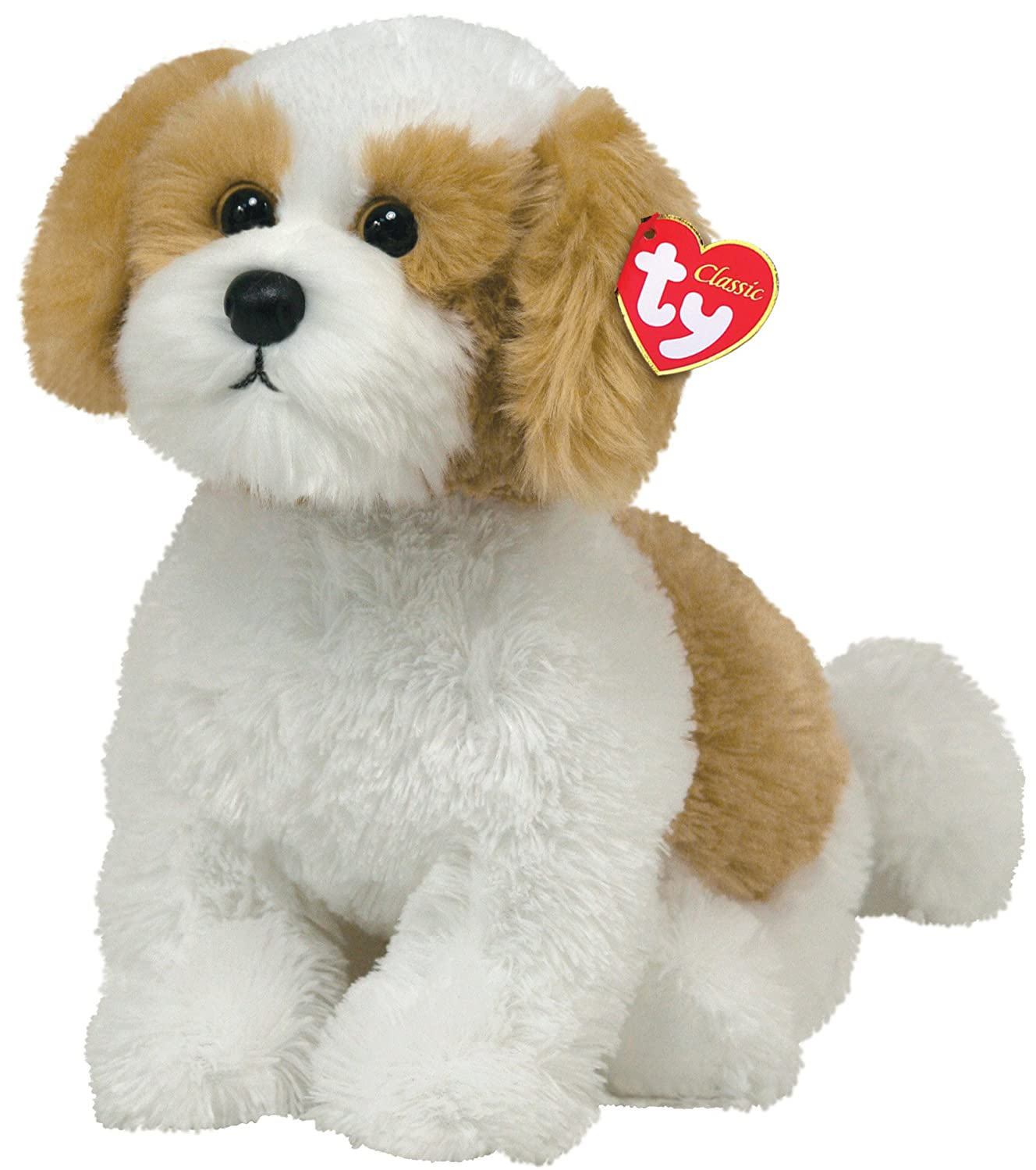 TY Classic Barley Beige dog with White