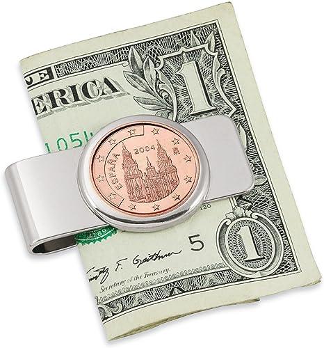 España Obradoiro cinco Cent Euro moneda plateada clip de dinero: Amazon.es: Hogar