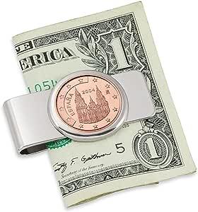 España Obradoiro cinco Cent Euro moneda plateada clip de dinero ...