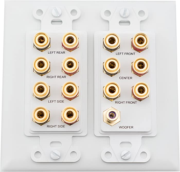 On-Q WP9009-WH-V1 7.1 Home Theater Connection Kit, White