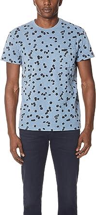 RVCA Hombre M904NROD Manga Corta Camisa de Botones - Azul - Medium: Amazon.es: Ropa y accesorios