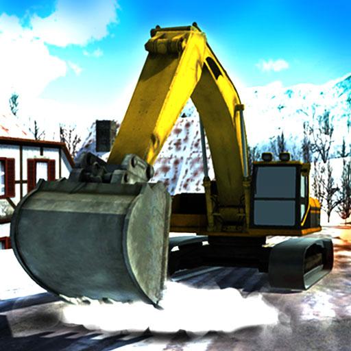 Heavy Snow Excavator Crane Simulator 3D