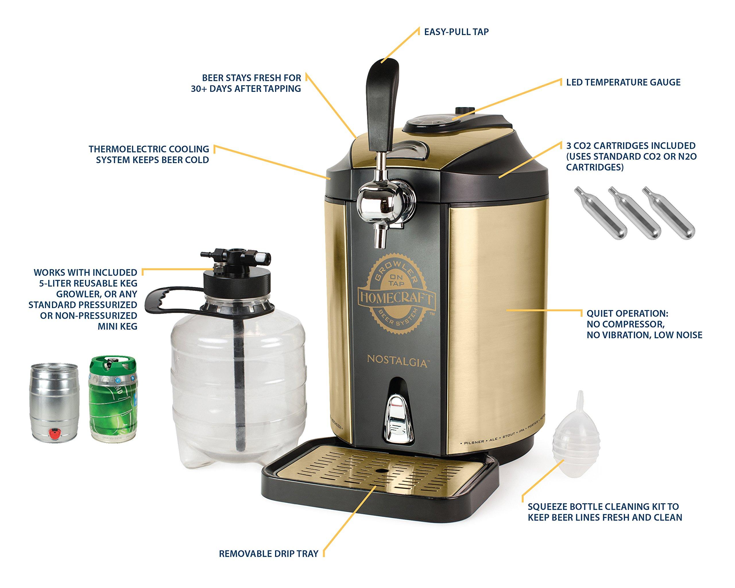 Nostalgia CBD5 Homecraft On Tap Beer Growler Cooling System by Nostalgia (Image #6)