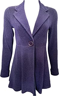 product image for Eva Varro L/SL. Empire ONE Button Jacket Navy Pebbles Unlined XS-3X