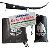 "CHILL GORILLA snakeskin sleeves. Instant stuff sack & protective cover for hammocks, rain flys, & tarps. 173"" total. Tube packs or unpacks your gear in seconds. ENO camping & backpacking accessory."