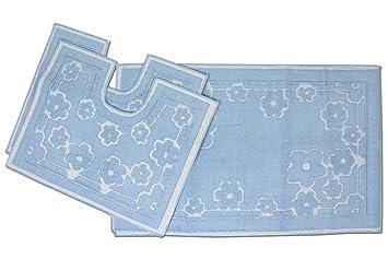 Marta marzotto tris tappeti bagno art sardo celeste amazon