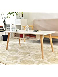 Laputa Simply Modern Tea Table For Living Room, White Tea Table With  Storage Cabinet Made Part 95