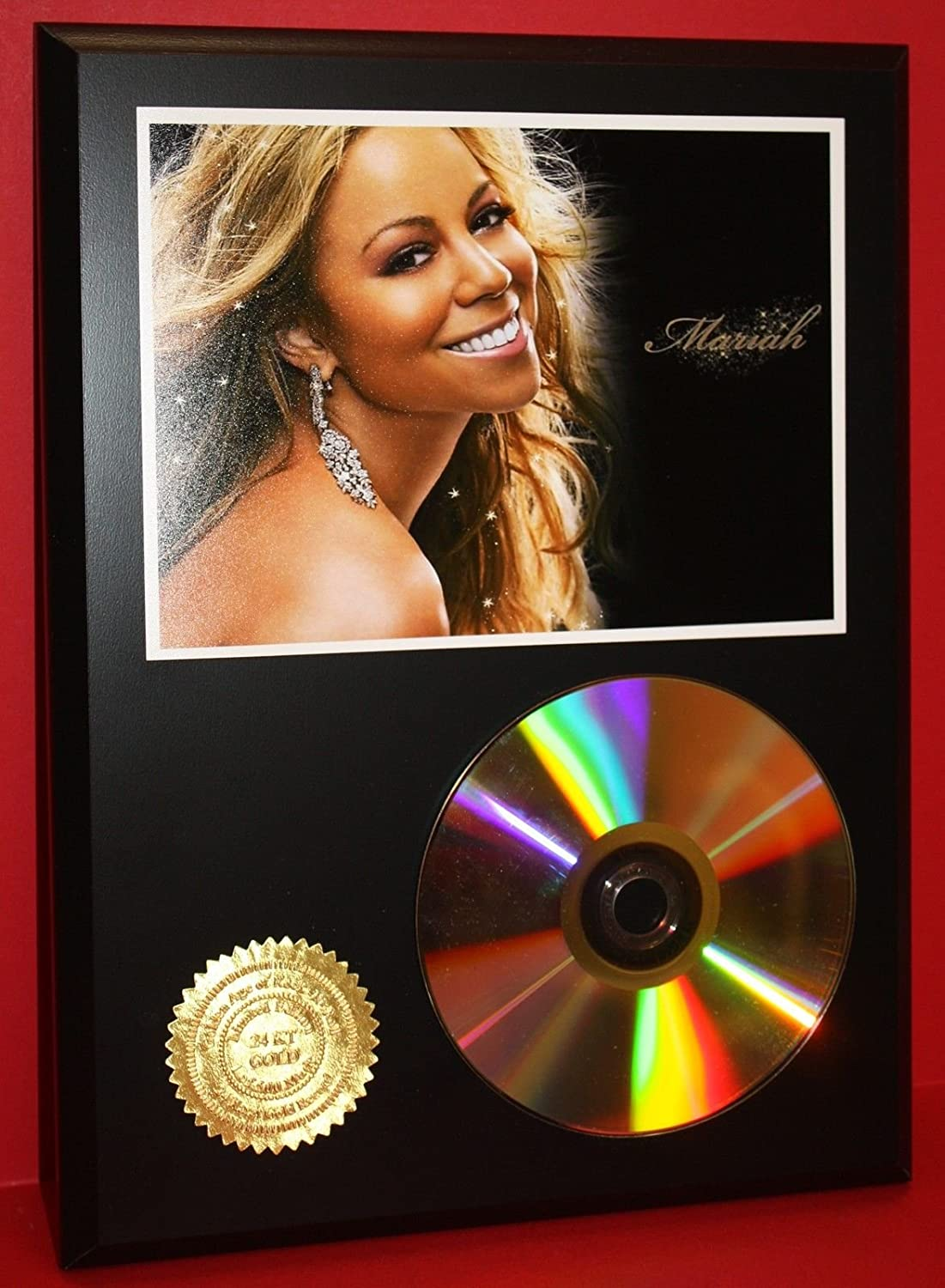Mariah Carey 24KT Gold Cd/Disc Collectible Rare Award Quality Plaque Gift