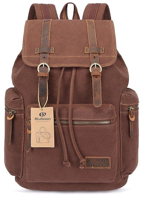 136 opinioni per BLUBOON Tela Zaini Vintage Zaino Uomo Donna Unisex Canvas Backpack Rucksack