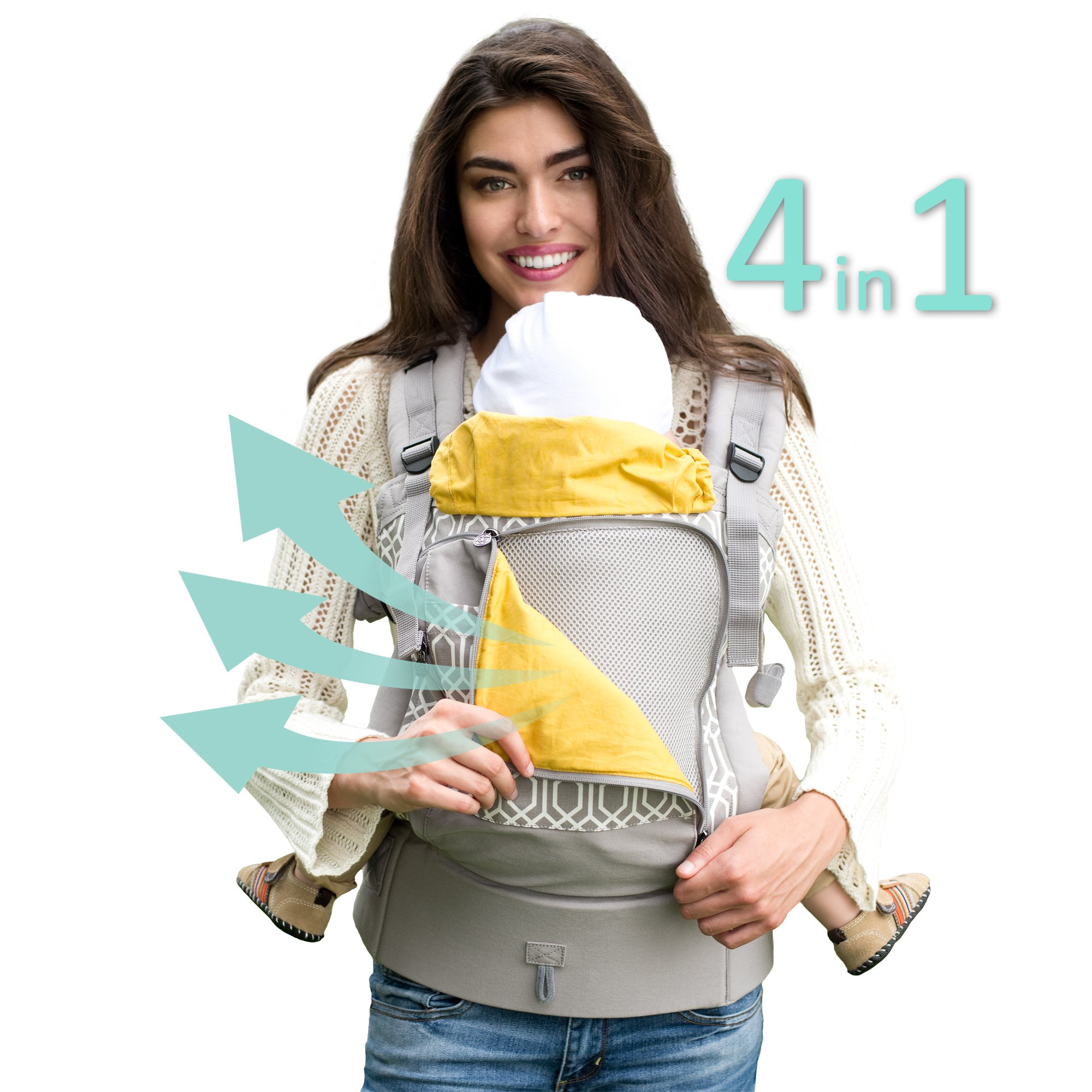 Lillebaby 4 In 1 Essentials All Seasons Baby Carrier Park Place