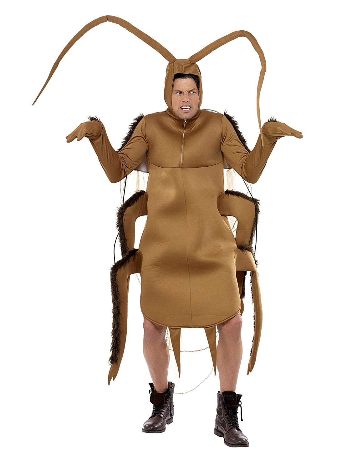 Smiffys Mens Cockroach Costume Bodysuit with Sleeves