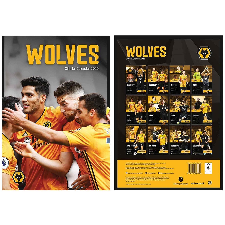 WOLVERHAMPTON WANDERERS Wolves 2020 Fu/ßball Kalender