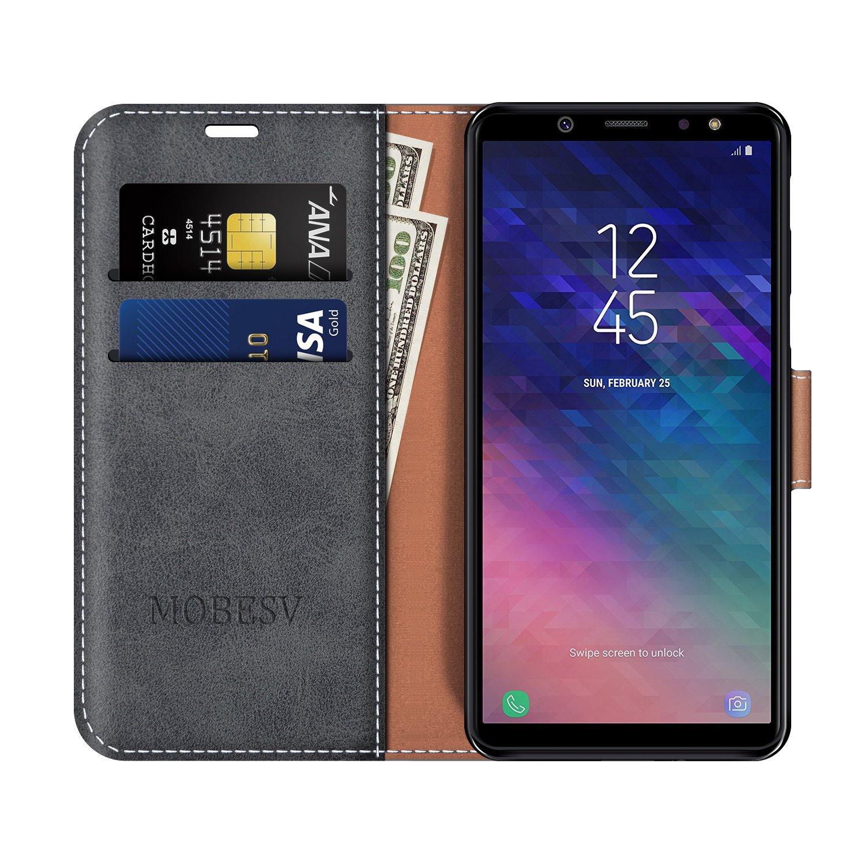 Grandoin Galaxy A6 2018 Hülle Handyhülle im Brieftasche-Stil für Samsung Ga Spieldosen