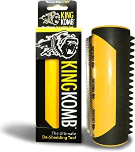 King Komb - Revolutionary 3 Blade Brush with Rubber Bristles for Shedding Dogs & Cats