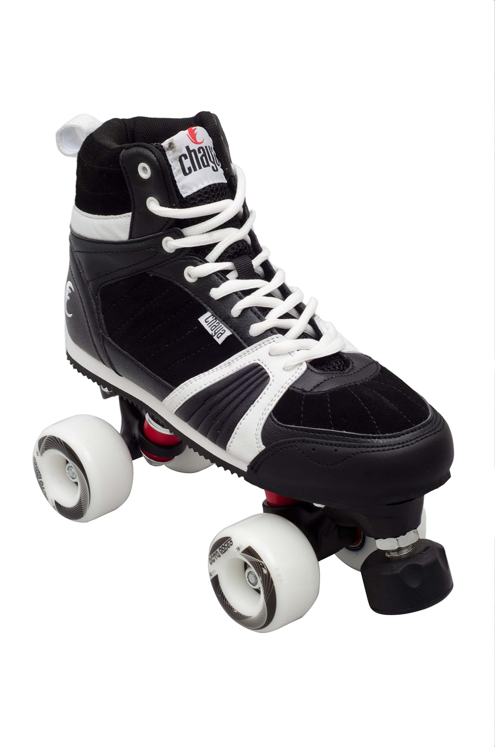 Chaya Jump Black Outdoor Park Roller Skate with Dual Center Mounting (Euro 39 / US 7)