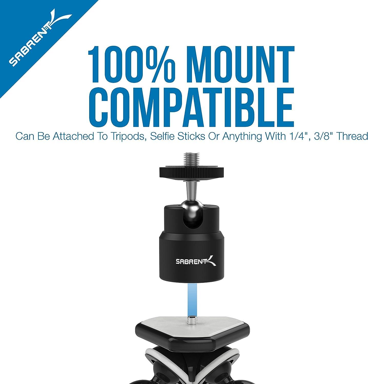Sabrent Universal Flexible Tripod for Standard Tripod Mount Renewed