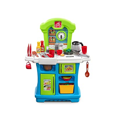 Step2 Little Cooks Kitchen | Play Kitchen for Babies & Toy Accessories Set | Baby Kitchen Playset with Realistic Sounds: Toys & Games