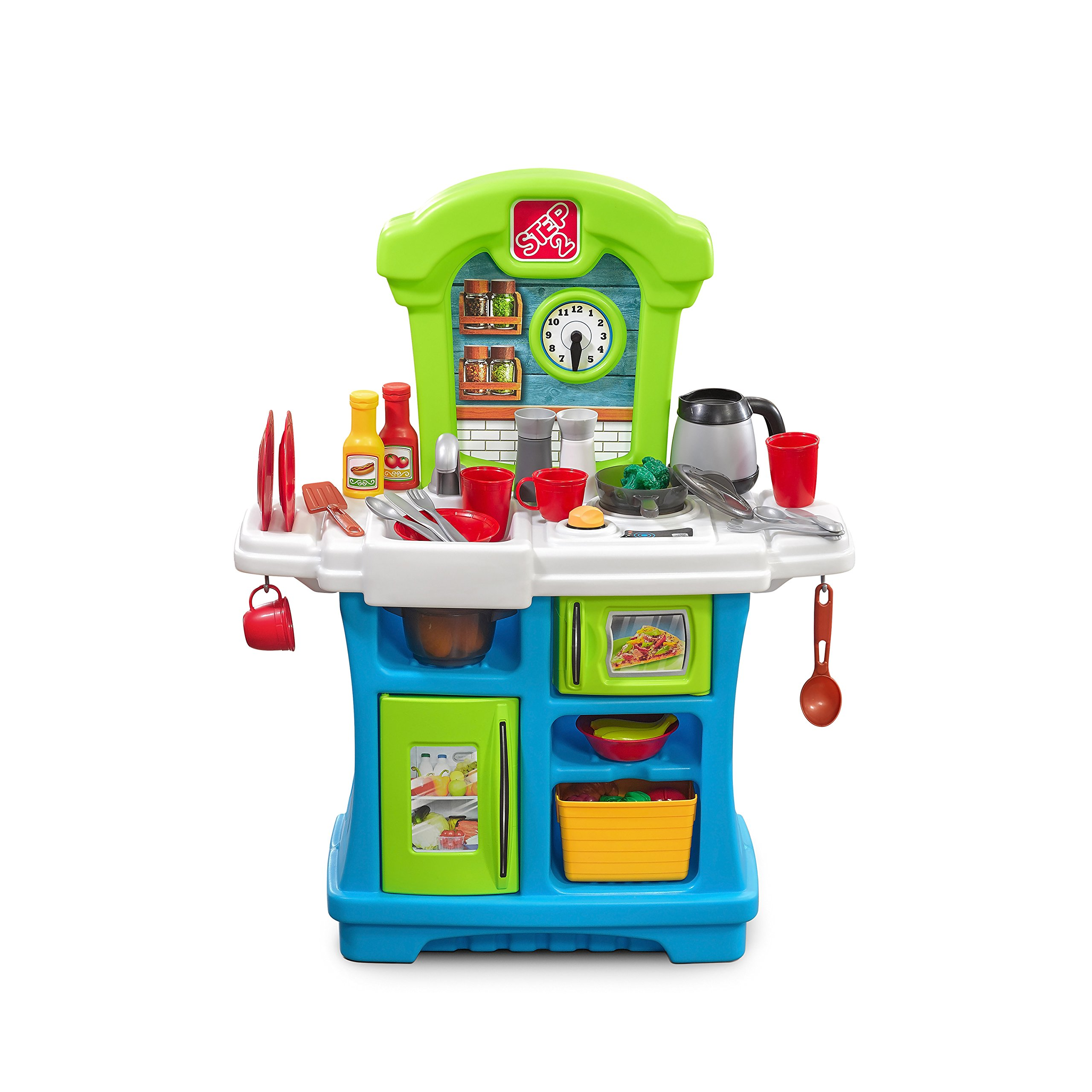 Step2 Little Cooks Kitchen   Play Kitchen for Toddlers & Toy Accessories Set   Kids Kitchen Playset with Realistic Sounds by Step2