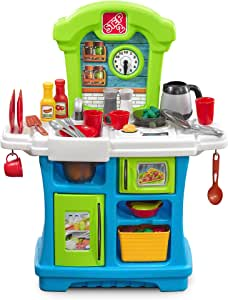 Step2 Little Cooks Kitchen | Play Kitchen for Babies & Toy Accessories Set | Baby Kitchen Playset with Realistic Sounds