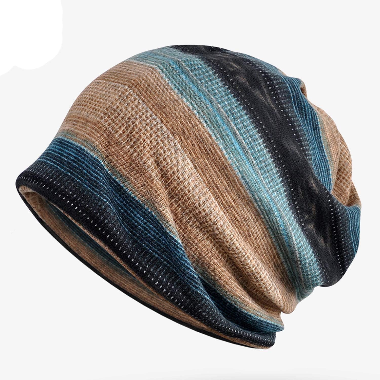 Snyemio Cappello Sciarpa Uomo 2 Pezzi Inverno Caldo Maglia Cotone Beanie Berretto Sportivo con Sciarpa Set