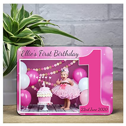 Personalizado las niñas 1st primer cumpleaños brillante ...