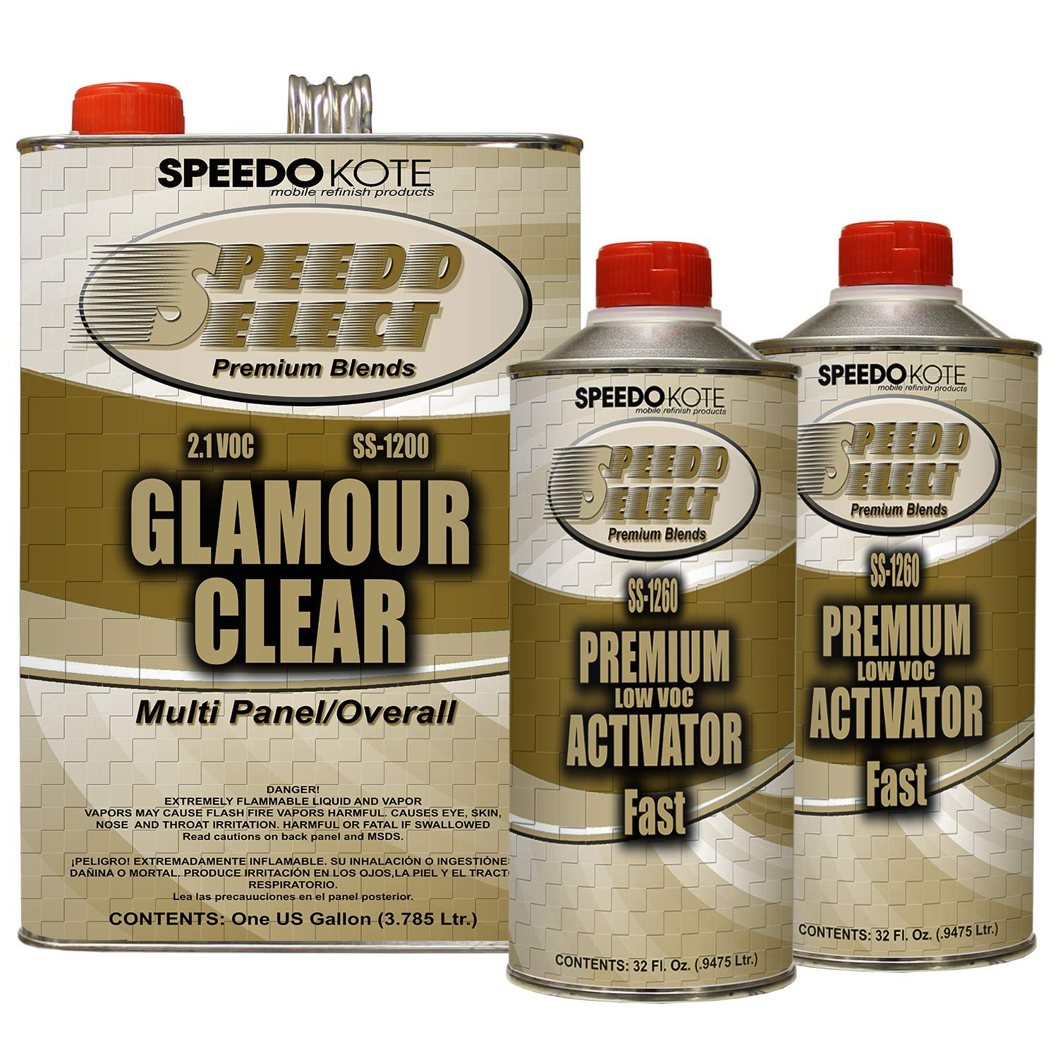 Speedokote SS-1200/60 - Ultra High Gloss with Superior DOI 2.1 voc Clear Coat, 2:1 mix 6 quarts Fast speed clearcoat Kit