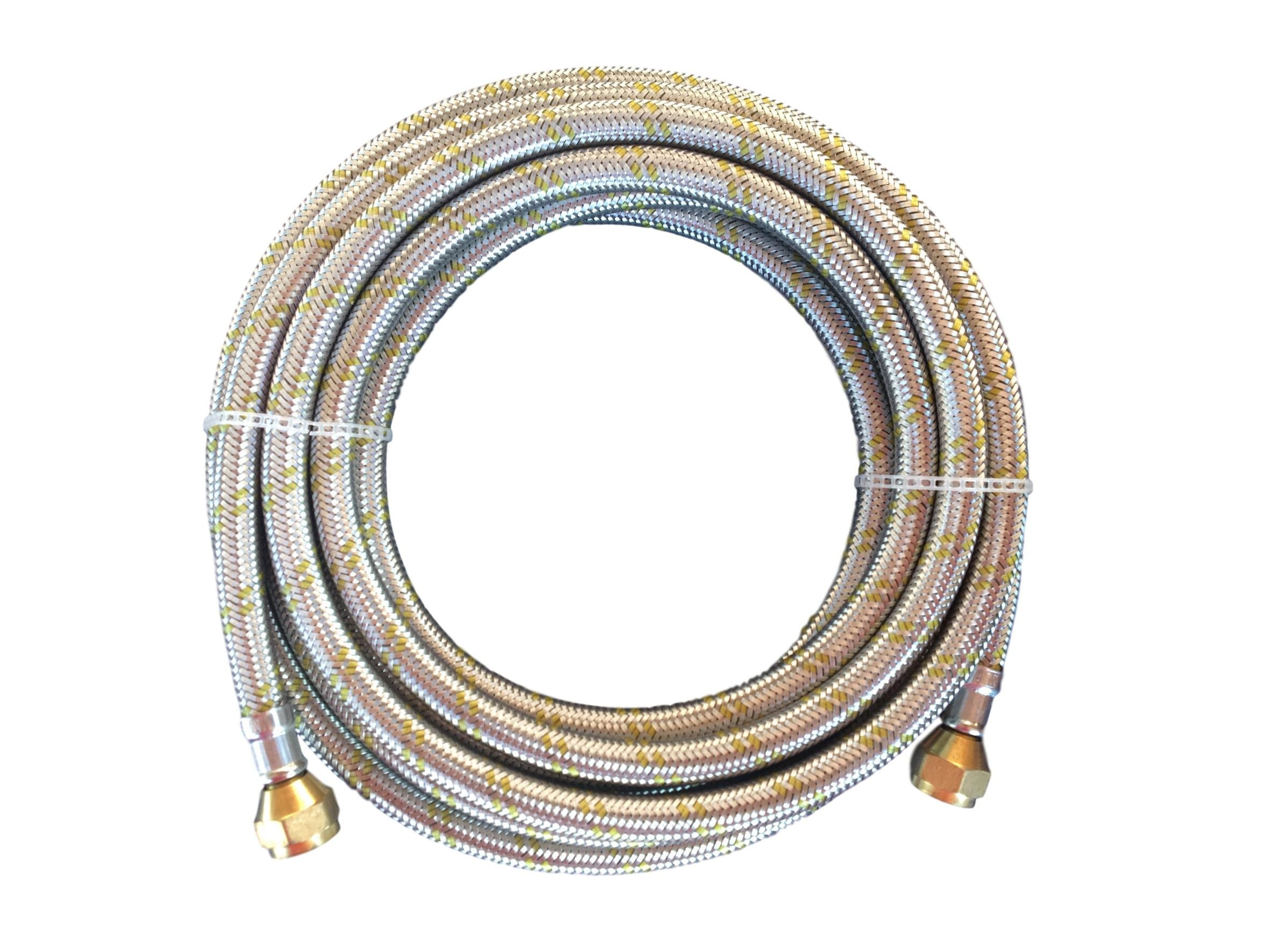 Great Deal Supply LLC Propane, Natural Gas Line 16ft Stainless Steel Braided Hose LP LPG Appliance Parts