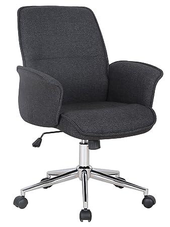 Chefsessel stoff  SixBros. Bürostuhl Chefsessel Drehstuhl Schreibtischstuhl Stoff ...