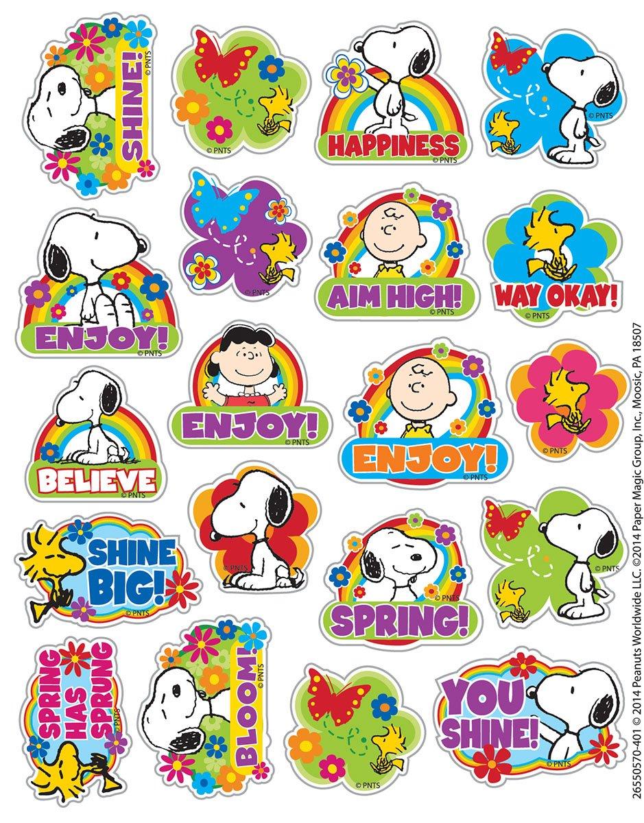 Eureka Peanuts Spring Stickers, Theme (655057)