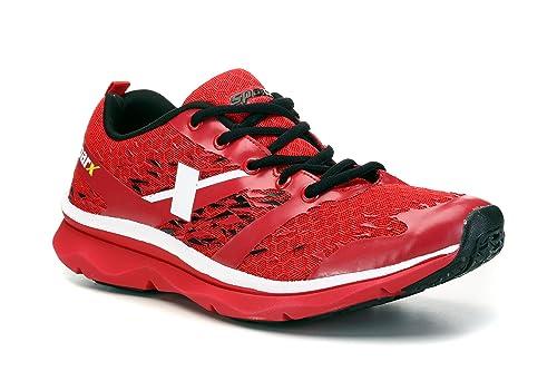 Buy Sparx Men's Red White Mesh Running