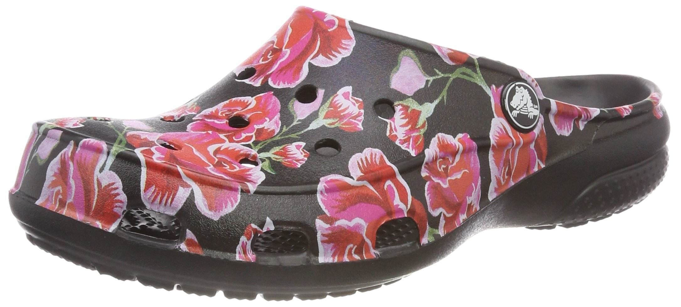 Crocs Women's Freesail Graphic W Clog, Multi Rose/Black, 8 M US