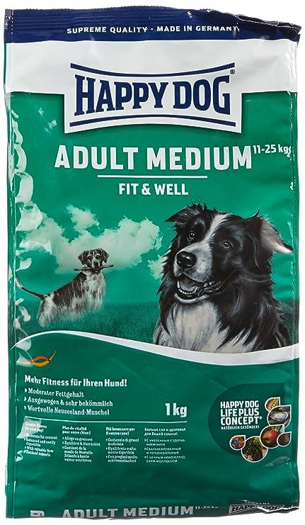 Happy Dog Fit & Well Adult Medium Comida para Perros - 1000 gr ...