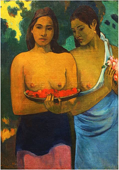 PAUL GAUGUIN TWO TAHITIAN WOMEN Painting Old Master Canvas art Prints