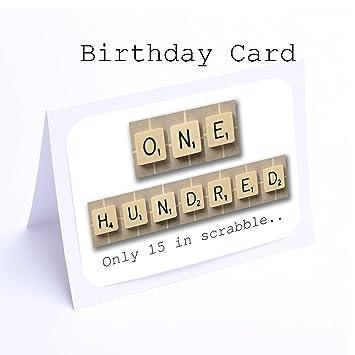 Birthday Card Scrabble The 100th