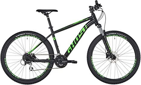 Ghost Kato 2.7 Mountain Bike, Color Night Black/Riot Green, tamaño ...