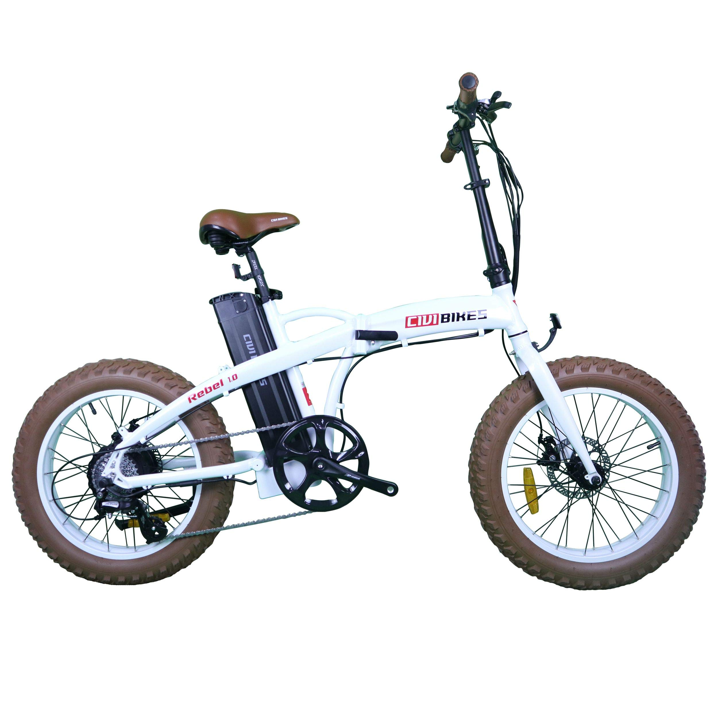 CIVI BIKES Rebel Folding 20 Inch Electric Bicycle Fat Tire