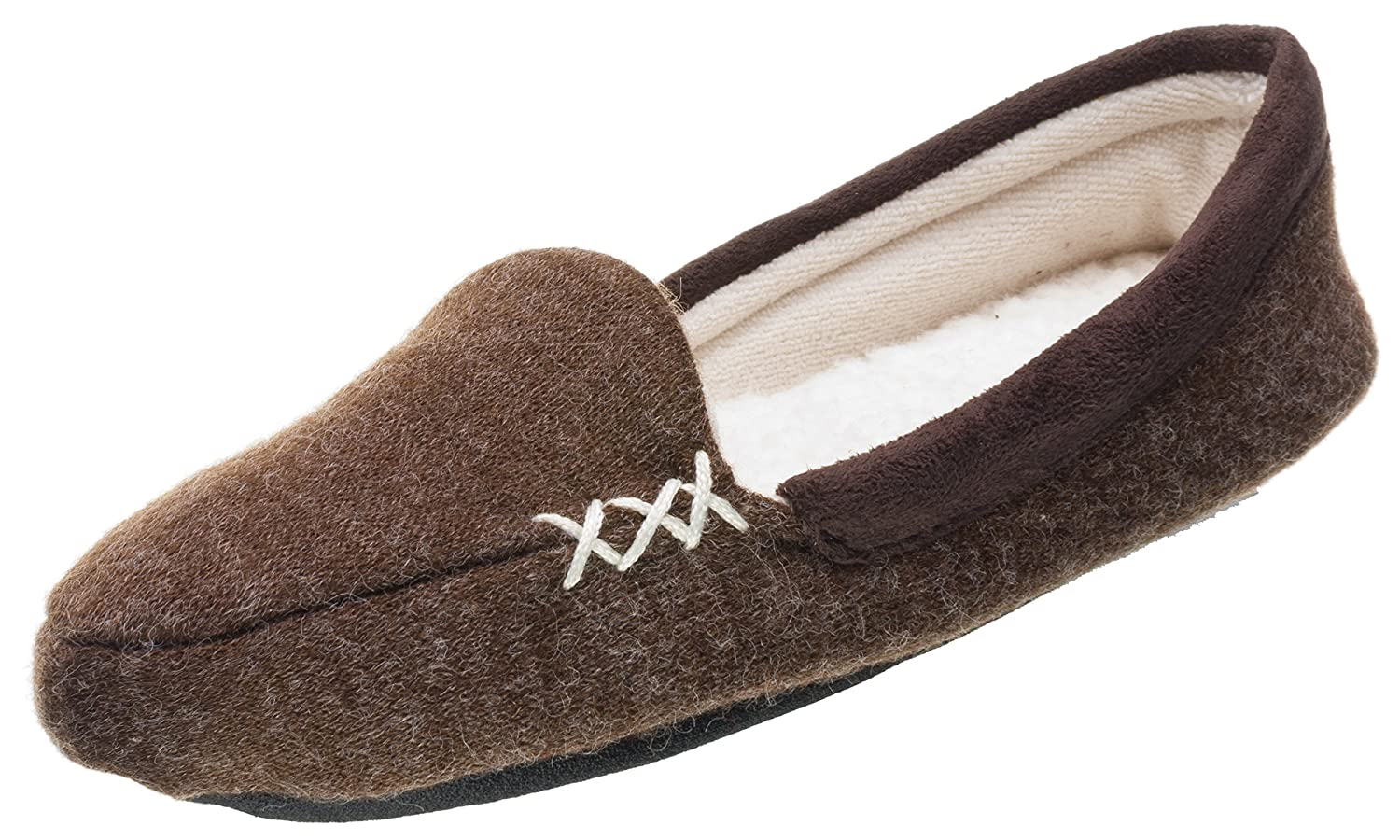 ISOTONER Women's Microsuede Heather Knit Marisol Moc