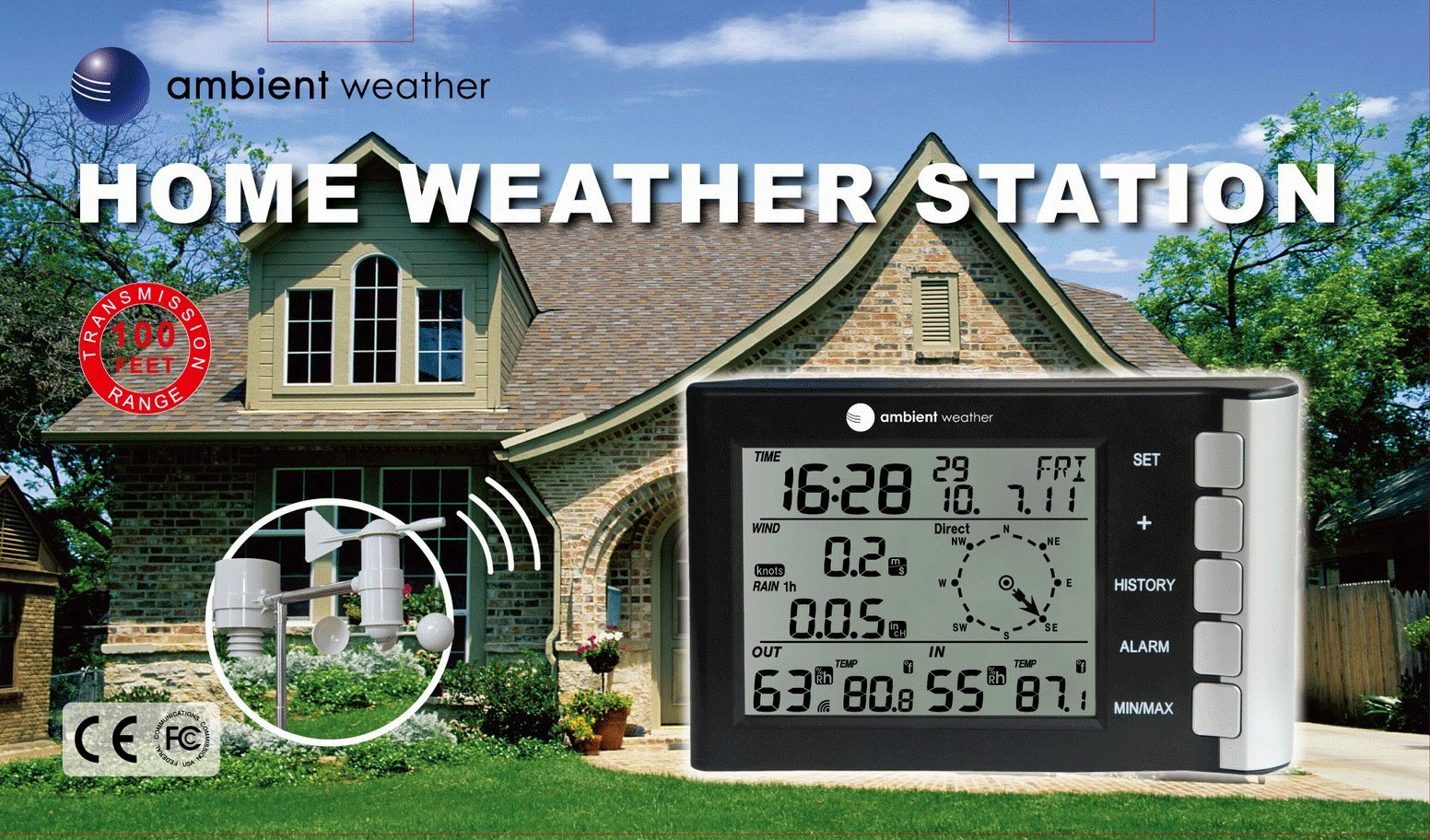 Ambient Weather WS-5305 Wireless Home Weather Station