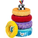 LAMAZE - Rainbow Stacking Rings Toy, Help Baby Develop Fine Motor Skills and Hand-Eye Coordination with Multiple Textures, Bold Colors, Playful Patterns and Crinkly Sounds, 6 Months and Older
