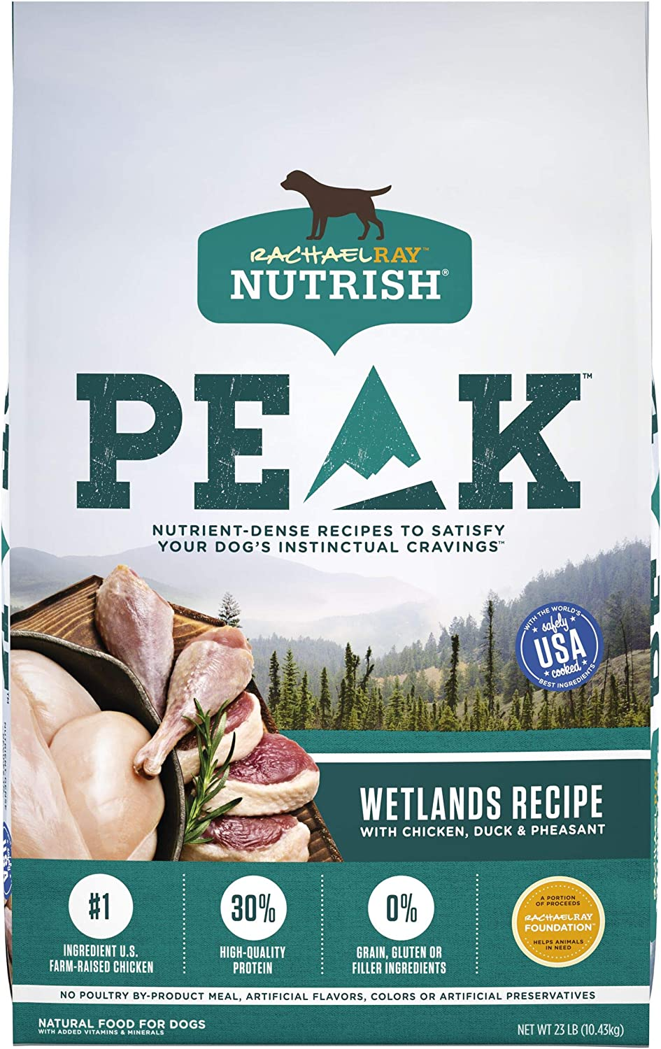 Rachael Ray Nutrish PEAK Nutrient Dense Dry Dog Food, Grain Free