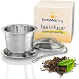 Deluxe Tea Infuser for Loose Leaf Tea. Single or Multi Cup Stainless Steel Strainer