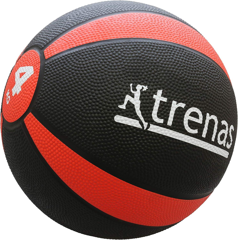 trenas Balón Medicinal de Goma Pro – 1 kg: Amazon.es: Deportes y ...