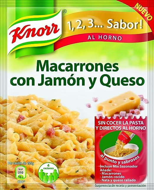 Knorr - Macarrones Jamon Y Queso, 28g - [Pack de 9]